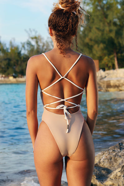 One piece - White + Nude