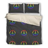 Rainbow Peace Bed Set