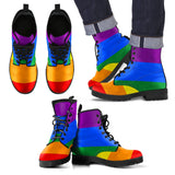 Classic Pride Rainbow Eco-Friendly Leather Boots