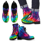Abstract Swirl Rainbow Eco-Friendly Leather Boots