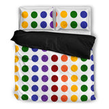 Rainbow Dots Bed Set
