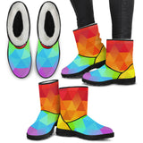 Ice Rainbow Faux Fur Boots
