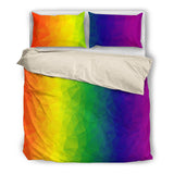 Rainbow Polygons Bed Set