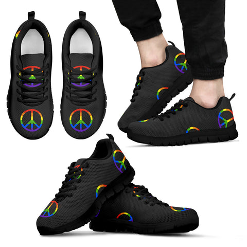 Rainbow Peace Unisex Sneakers