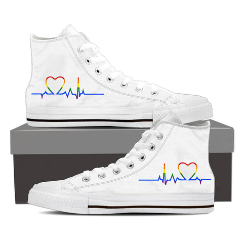 Rainbow Heartbeat High Top Shoes