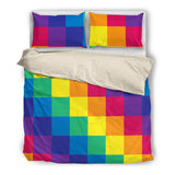 Rainbow Cube Bed Set