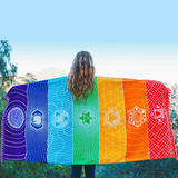 OMIRIS Rainbow Mandala Blanket & Towel