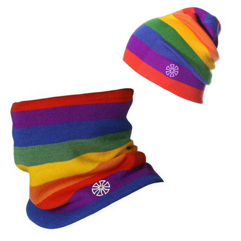 Stripy Scarf & Beanie Bundle