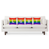 LGBT Pride Rainbow Pillow Covers