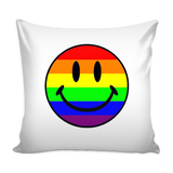 Pride Happy Face Pillow Cover