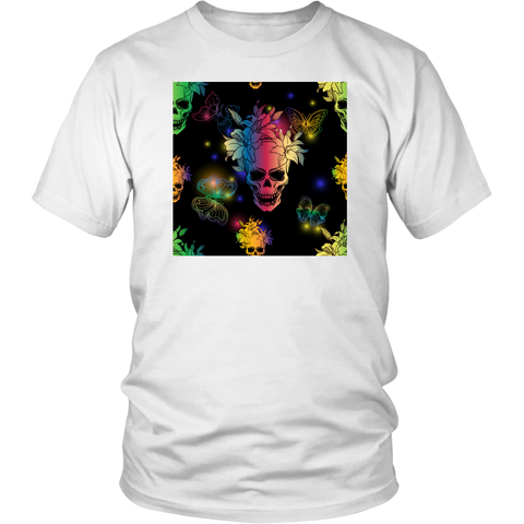 Skull & Butterflies Rainbow T-Shirt