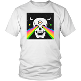 Skull With Rainbow Rays From Eyes T-Shirt