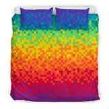 Pixel Rainbow Bed Set