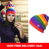 LGBT Pride Knitted Beanie Hat