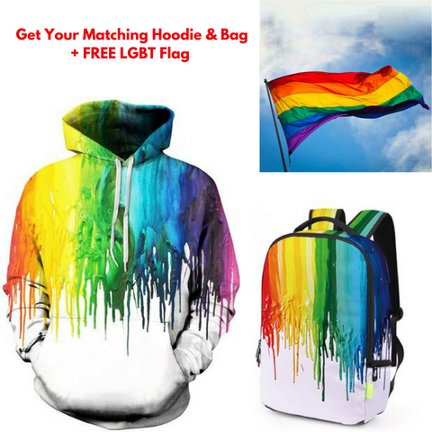 Pop Splash™ Bag - Hoodie + Free LGBT Flag