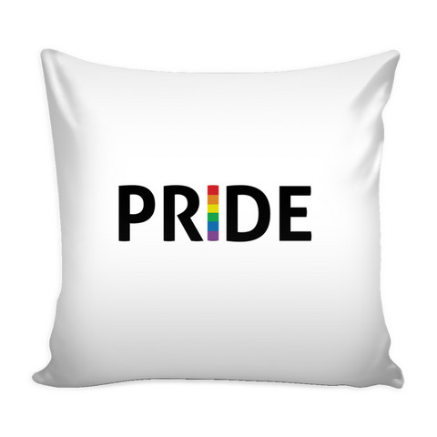 LGBT Pride White Pillow Cover
