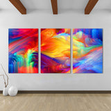 Abstract Rainbow Wall Art