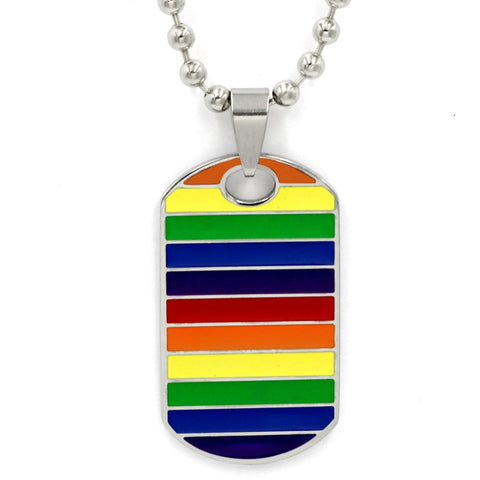 Rainbow Unisex Tag Necklace