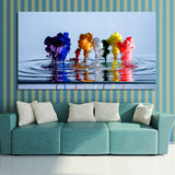 Rainbow Water Wall Painting