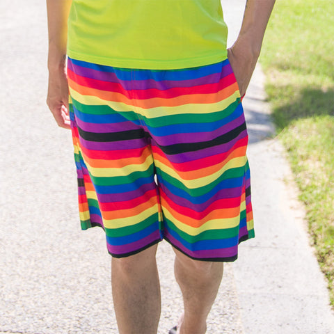 Rainbow Quick Drying Bermuda Beach Shorts