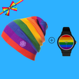 LGBT Pride Knitted Beanie + LGBT Watch