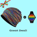 Premium Multi-Use Beanie Scarf + LGBT Flag Watch Bundle