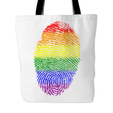 Pride LGBT Fingerprint White Tote Bag