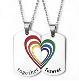 LGBT Couple Necklace (2 pcs) + FREE Bracelet