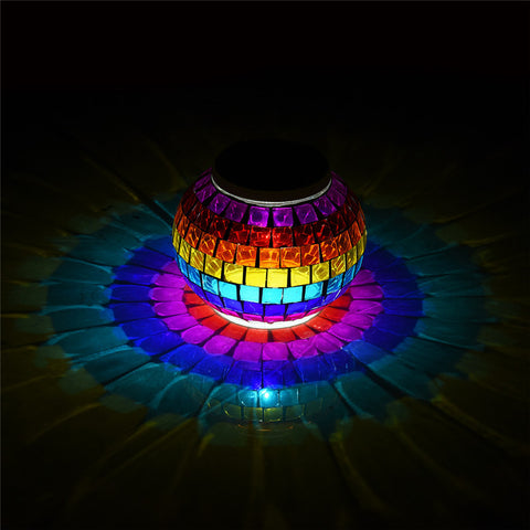 Rainbow Solar Glass LED Light