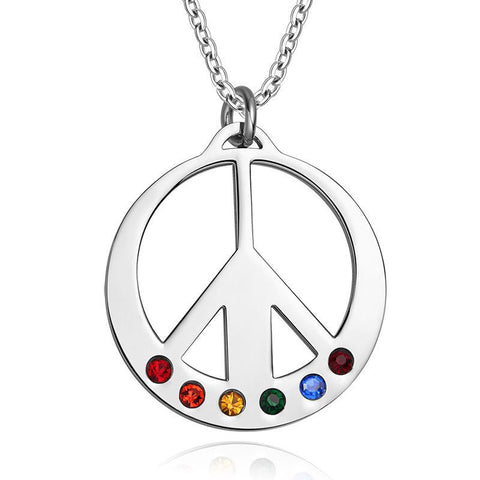 LGBT-Pride Peace Pendant Necklace