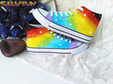 Hand Painted Rainbow Shoes