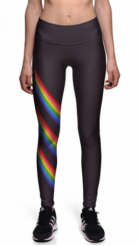 Rainbow Pride Stripes Leggings
