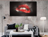 """The Red Lips"" Wall Art Painting"