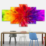 Rainbow Wall Art Painting 5 Pcs