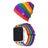 LGBT Beanie & Rainbow Apple Watch Band Bundle