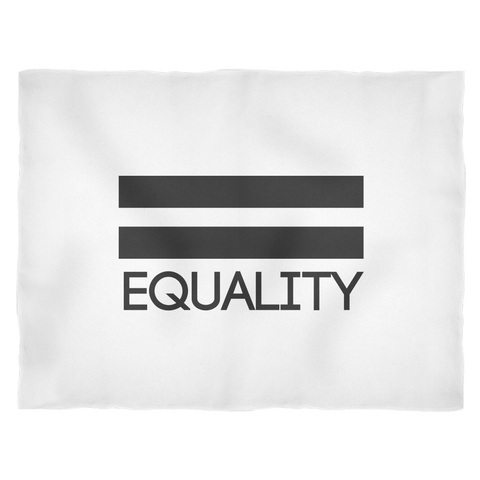 Pride LGBT Equality Fleece White Blanket
