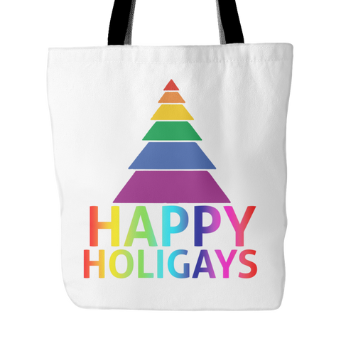 Happy Holigays White Tote Bag
