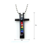 LGBT Pride Cross Pendant Necklace