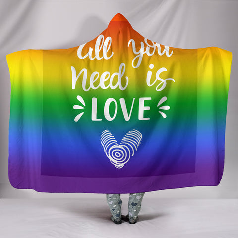 All You Need Is Love Hooded Blanket