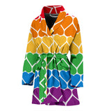 Pride Rainbow Hearts Women's Bathrobe