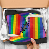 Pride Lines Faux Fur Leather Boots
