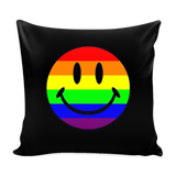 Pride Happy Face Black Pillow Cover
