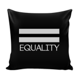 Pride LGBT Equality Black Pillow Cover