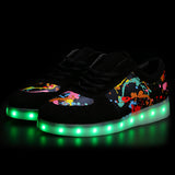 Luminous Graffiti Led Shoes With USB Charger