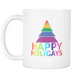 Happy Holigays White Mug 11oz