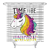 Unicorn Curtain Bathroom Set