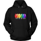 Pride Rainbow Old School Christmas Lights Sweatshirt