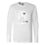 LGBT Skeleton Rib Cage Halloween T-Shirt