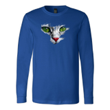 Green Eyes Cat Face T-Shirt