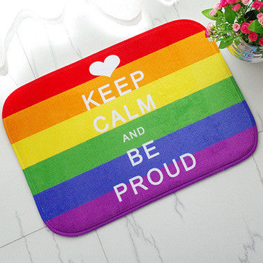 LGBT Pride Keep Calm and Be Proud Rug